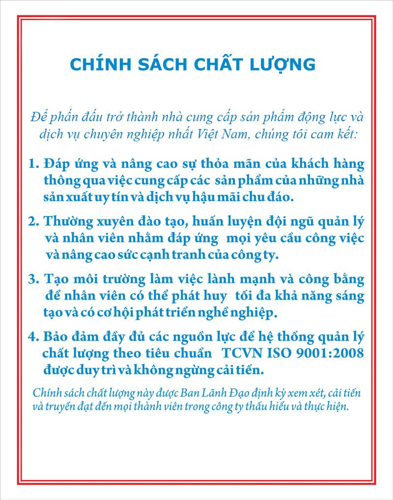 chinh sach chat luong
